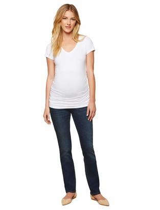 Motherhood Maternity Women's Maternity Indigo Blue Tall Stretch Secret Fit Belly Straight Jean