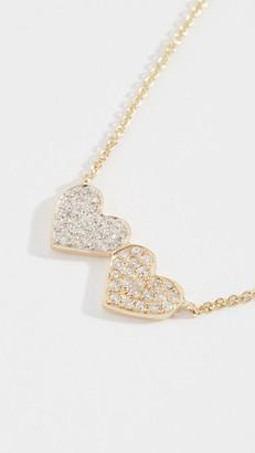 Sydney Evan 14k Medium Double Heart Necklace