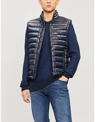 BOSS Crewneck purl-knit cotton jumper