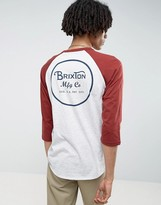 Brixton 3/4 Sleeve Raglan T-Shirt With Back Logo
