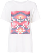 The Elder Statesman cross print T-shirt - women - Silk/Cashmere - S