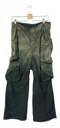 Undercover Green Cotton Trousers