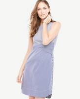 Ann Taylor Striped Poplin Twist Front Dress