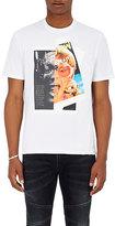 """Neil Barrett Men's """"Rocky Elton"""" Jersey T-Shirt-WHITE"""