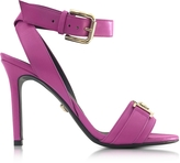 Versace Pink Leather Sandal