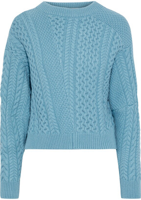 Stella McCartney Patchwork-effect Cable-knit Wool And Alpaca-blend Sweater