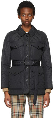 Burberry Black Quilted Kemble Jacket