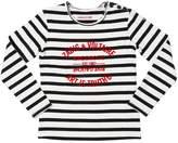 Zadig & Voltaire Striped Printed Cotton Interlock T-Shirt