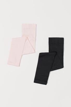 H&M 2-pack Dance Leggings - Pink