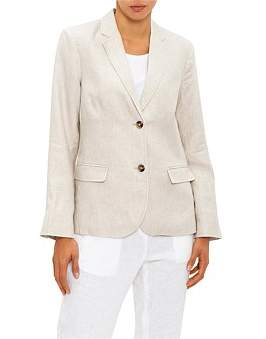 David Jones Linen Tailored Blazer