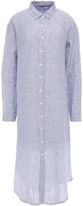 Stateside Striped Linen Midi Shirt Dress
