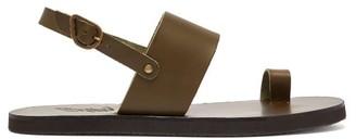 Ancient Greek Sandals Frixos Leather Sandals - Mens - Khaki