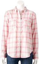 Levi's Women's Workwear Plaid Boyfriend Shirt