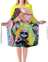 Lovely Pitbull Dog Aprons Art Painting Animals Big Size Apron Colorful Man Women Chef Kitchen Cooking BBQ Aprons 29x34Inch By CafeTime