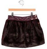 Junior Gaultier Girls' Faux Fur Skirt w/ Tags