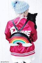 Forever 21 FOREVER 21+ Structured Rainbow Backpack