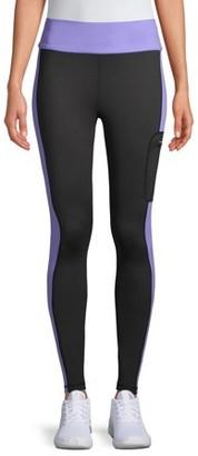Athletic Works Women's Athletic Work's Performance Fleece Lined Neon Pop Leggings