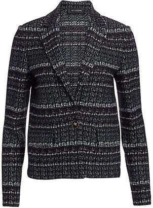 St. John Textured Boucle Tweed Jacket