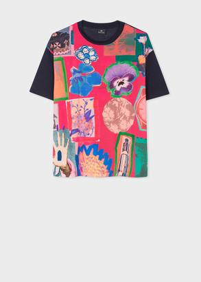 Paul Smith Women's 'Flower Collage' Print T-Shirt