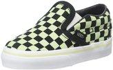 Vans Classic Slip-On (Inf/Yth) - (Glow Check) Black/True White - 10 Toddler