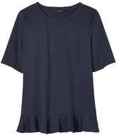 Banana Republic Ruffle-Hem Couture Tee