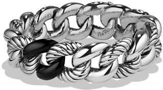 David Yurman Belmont Curb Link Bracelet with Black Onyx