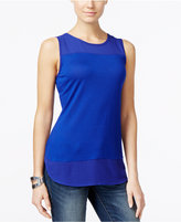 INC International Concepts Petite Mixed-Media Tank Top, Only at Macy's
