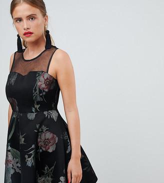 New Look Scuba A Line Dress-Black