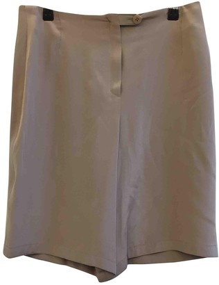 Rena Lange Beige Silk Shorts for Women