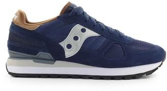 Saucony Shadow Navy Blue Brown Sneaker