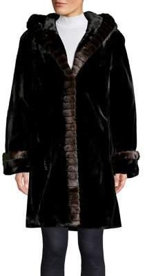 Gallery Faux Fur Hooded Coat