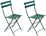 Fermob Cedar Bistro Metal Chairs - Set of 2