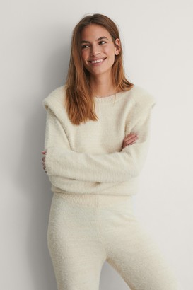 NA-KD Padded Shoulder Sweater