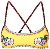 Topshop Embroidered crochet bikini crop top
