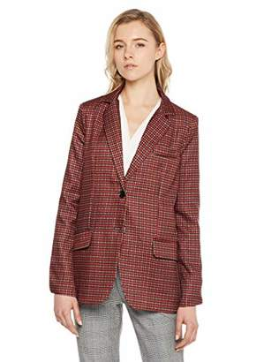 MEHEPBURN Women's Casual Work Office Open Front Blazer Jacket L