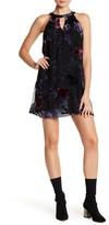 As U Wish Gigi Burnout Trapeze Mini Dress
