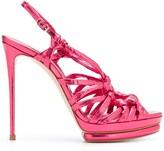 Casadei Strappy Ring Stiletto Sandals