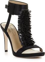 BCBGMAXAZRIA Limbo High-Heel Beaded Pom Dress Sandal