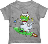 Novelty T-Shirts Boys Astro-Saurus Rex Graphic T-Shirt - Toddler 2T-5T