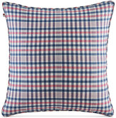 "Tommy Hilfiger Timeless Plaid/Stripe Dual Pattern 20"" Square Decorative Pillow"