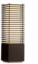 Gilt,  black/brushed nickel/tan shade, In Stock