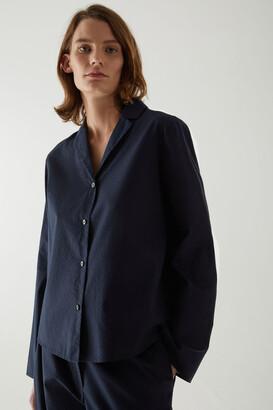 Cos Cotton Pinstripe Pajama Shirt