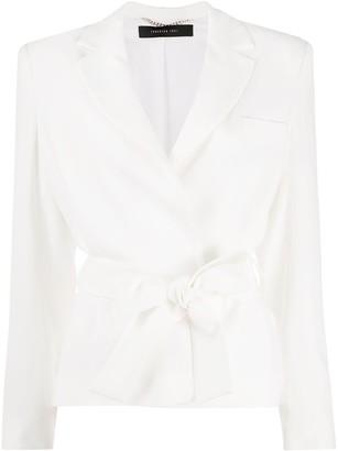 FEDERICA TOSI Tie-Waist Single-Breasted Blazer