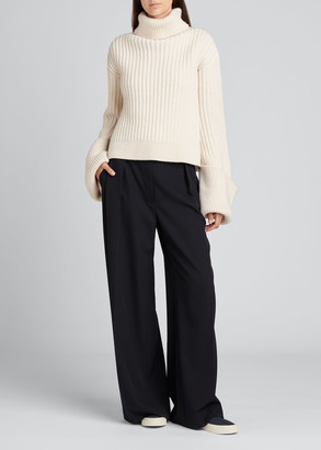 The Row Aneke Wool Turtleneck Top