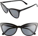 Prada 56mm Polarized Cat Eye Sunglasses