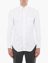 Thom Browne White Cotton Oxford Shirt