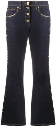 Versace Studded Cropped Flares Trousers