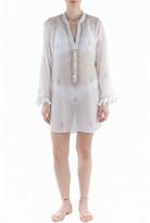 Flora Bella Navigator Button-Up Long-Sleeve Tunic w/ Fringe