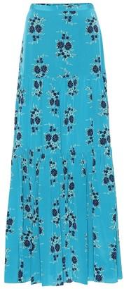 Veronica Beard Serence floral silk maxi skirt
