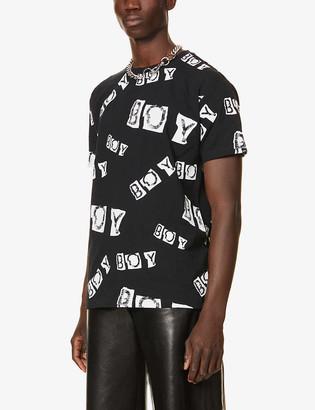 Boy London Collage logo-print cotton-jersey T-shirt